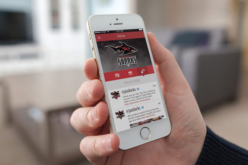 Jacksonville Sharks Mobile App by C7 Creative